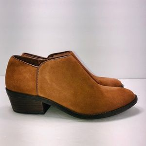 Lucky Brand Faithly Suede Brown Bootie